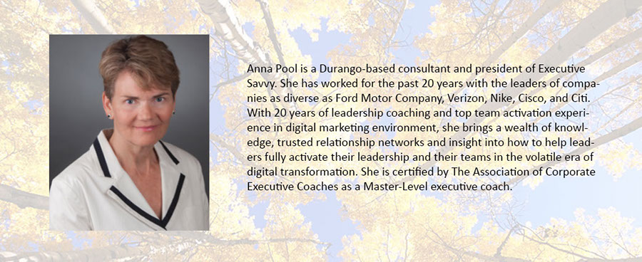 Anna Pool, thought leader